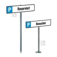 Parkplatzbeschilderung -Bremen-, Gesamtlänge 550 mm (Aufdübeln) oder 750 mm (Einschlagen)