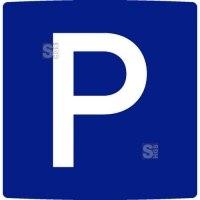 Parkplatzbeschilderung aus Aluminium, einseitig, zur Wandmontage, flache oder gewölbte Oberfläche, wahlweise mit Text