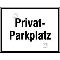 Parkplatzkennzeichnung / Hinweisschild, Privatparkplatz
