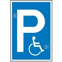 Parkplatzschild, Behindertenparkplatz