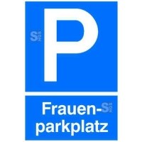 Parkplatzschild, Frauenparkplatz