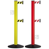 Personenleitsystem -Beltrac Classic Safety Double- aus Aluminium, Gurtlänge 2 x je 2,3 m, mobil, rot oder gelb