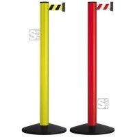 Personenleitsystem -Beltrac Classic Safety- aus Aluminium, Gurtlänge 2,3 m, mobil, rot oder gelb