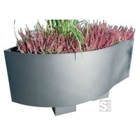 Pflanzbehälter -Rhea- aus Edelstahl