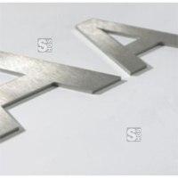 Plastische Buchstaben -Unitex P- aus Edelstahl