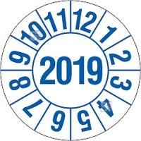 Prüfplaketten für Labore und Krankenhäuser (1 Jahr), 2018-2021, Bogen