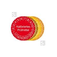 Prüfplaketten mit Jahresfarbe (6 J.), 2017 / 2021 - 2020 / 2025, Kalibriertes Prüfmittel, 15er-Bogen