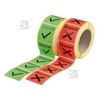 Qualitätssicherungs-Etiketten auf Rolle, 500 Stück
