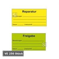 Qualitätssicherungs-Etiketten für Bemerkungen, auf Rolle, 250 Stück