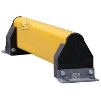 Rammschutzplanke -Railings- mit Eckenanfahrschutz, aus Spezial-Kunststoff, Länge 2000 mm, herausnehmbar