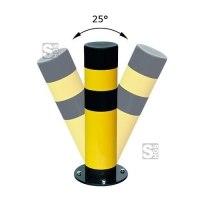Rammschutzpoller -Spring- ø 159 mm aus Gütestahl, zum Aufdübeln, anfahrbar
