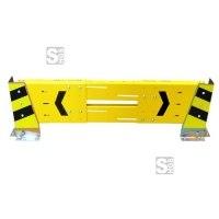 Regalschutz -WALL- mit Eckenanfahrschutz -BLADE-, Komplett-Set zum Schutz von Regalreihen
