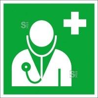 Rettungsschild Arzt