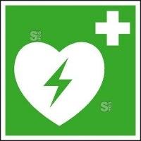 Rettungsschild Automatisierter externer Defibrillator (AED), langnachleuchtend