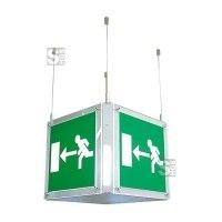 Rettungszeichenleuchte -CUBE Fux- mit Autotest-Funktion, Erkennungsweite 42 m, Deckenmontage
