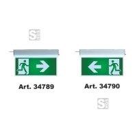 Rettungszeichenleuchte -LED Standard-, Erkennungsweite 20 m, Wand- oder Deckenmontage