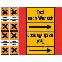 Rohrleitungs-Kennzeichnungsbänder mit Gefahrsymbol, DIN 2403:2007-05 (Gruppen 4, 5, 8, 9)