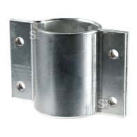Rohrschelle aus Aluminium zur seitlichen Befestigung von Schildern, für Pfosten Ø 60 mm