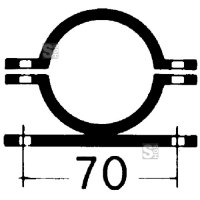 Rohrschelle, feuerverzinkt, Ø 60 oder 76 mm, verschiedene Lochabstände