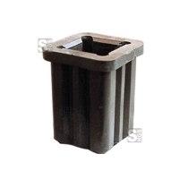 Rohrschuh aus Kunststoff 60 x 60 mm, für Schaftrohre 40 x 40 mm und Ø 42 mm