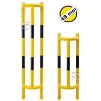 Rohrschutz -Big Mountain- Ø 48 mm aus Stahl, zur Wand- und Bodenbefestigung, Höhe 1000 mm oder 1500 mm, gelb / schwarz