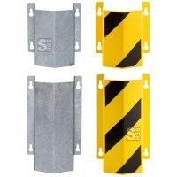 Rohrschutz -Little Mountain- aus Stahl, zur Wandmontage, Höhe 300 mm oder 500 mm, verzinkt oder gelb / schwarz