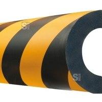 Rohrschutz -Safe- aus PU, Länge 1000 mm, gelb / schwarz, verschiedene Profile, sehr hochwertig
