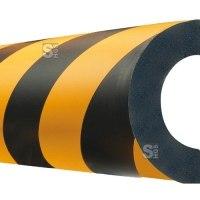 Rohrschutz -Safe- aus PU-, Länge 1000 mm, gelb / schwarz, verschiedene Profile, wahlweise selbstklebend oder magnetisch, hochwertig und flexibel