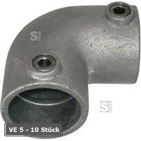 Rohrverbinder -90° Bogen-, VE 5 - 10 Stück, aus Temperguss, TÜV-geprüft