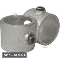 Rohrverbinder -90° Querschelle-, VE 5 - 10 Stück, aus Temperguss, TÜV-geprüft