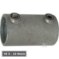 Rohrverbinder -Außen-, VE 5 - 10 Stück, aus Temperguss, TÜV-geprüft