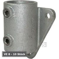 Rohrverbinder -Wandbefestigung-, VE 8 - 10 Stück, aus Temperguss, TÜV-geprüft