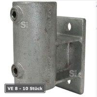 Rohrverbinder -Wandbefestigung mit Abstandhalter-, VE 8 - 10 Stück, aus Temperguss, TÜV-geprüft