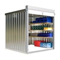 Rollladenbox -STRB 1200-, ca. 4 m², mit Holzfußboden