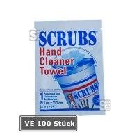 SCRUBS Reinigungstücher, VE 100 Stück, für Hände, Maschinen und Werkzeuge -Single Pack-