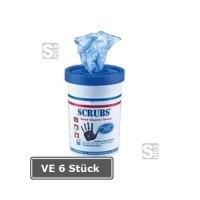 SCRUBS Reinigungstücher, VE 6 Stück,  für Hände, Maschinen und Werkzeuge -Count Container-, 30er Behälter