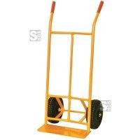 Sackkarre, Tragfähigkeit 300 kg, aus Stahl, Vollgummi- oder Lufträder