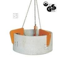 Schachtringgehänge -S1062- für senkrechte Rohre nach DIN, Tragkraft 1500-5000 kg, Klauen 3-4