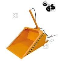 Schaufel -S2061- für Gabelstapler, mit hydraulischer Kippvorrichtung, 500-1250 Liter, lackiert oder verzinkt