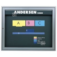 Schaukasten -Infomedia M- 750 x 660 mm mit Sicherheitsschloss