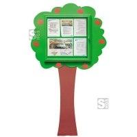 Schaukasten -Kids- Baum, 1230 x 2160 mm, Bautiefe 30 mm, Nutzinnentiefe 15,5 mm