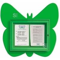 Schaukasten -Kids- Schmetterling, 730 x 674 mm, Bautiefe 30 mm, Nutzinnentiefe 15,5 mm