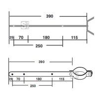 Schelle als Fahnenhalterung, Länge 390 mm