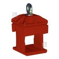 Schilderklemme aus Kunststoff, für Vierkantrohr 40 x 40 mm und Rundrohr Ø 42 mm, verschiedene Farben