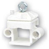Schilderklemme aus Kunststoff mit Ösen, für Vierkantrohr 40 x 40 mm und Rundrohr Ø 42 mm