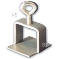 Schilderklemme aus Stahl für Vierkantrohr 40 x 40 mm und Rundrohr Ø 42 mm