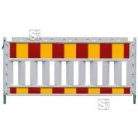 Schrankenzaun -Euro SK- aus Kunststoff, rot / gelb, verschiedene Längen und Folien