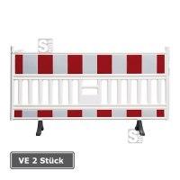 Schrankenzaun -VarioFix- aus Kunststoff, VE 2 Stück, Folie Typ 1 (RA 1), mit drehbaren Standfüßen