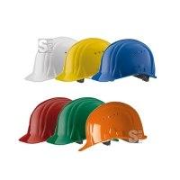 Schutzhelm -Baumeister 80- aus HDPE, 6-Punkt-Kinnriemen, CE geprüft, nach DIN EN 397