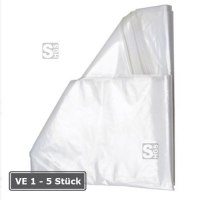 Seitenfaltenbeutel aus Kunststoff, 1000 oder 2500 Liter, transparent, VE 10 Stk.